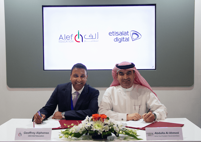 EdTech Middle East Etisalat and Alef Education sign MoU