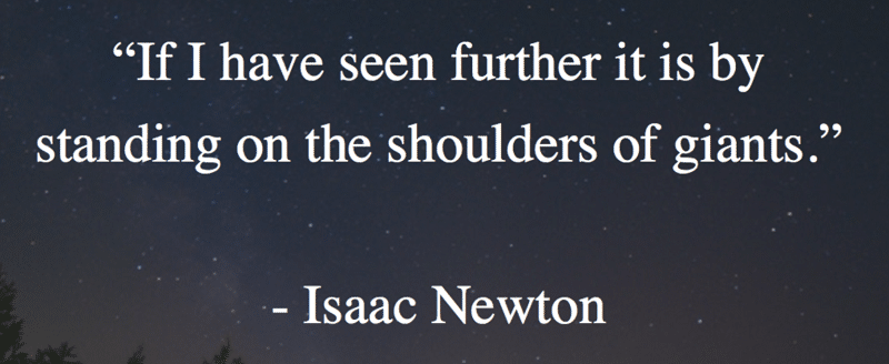 Isaac Newton quote Continuous Professional Development using Twitter