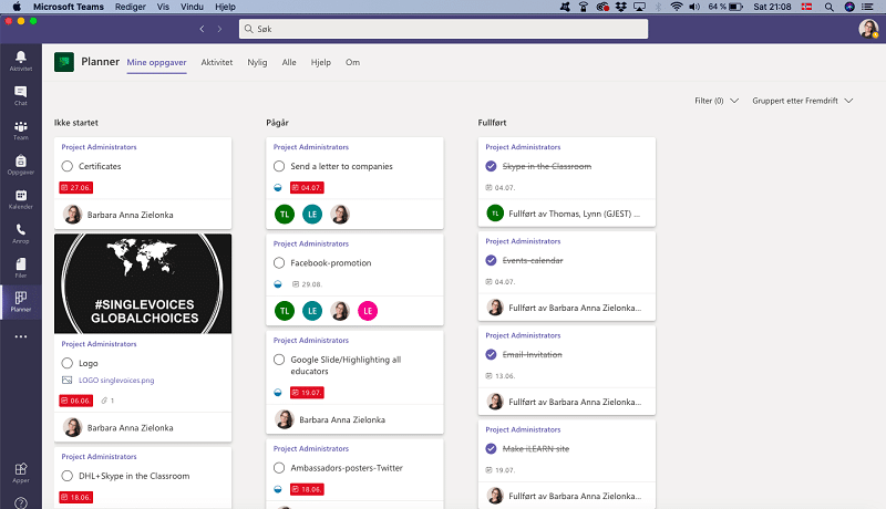 Project Management using Microsoft Teams