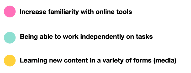 Focus on the positive aspects of online learning