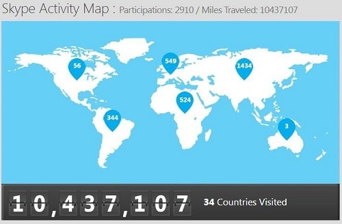 Skype activity map