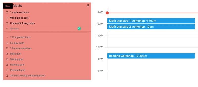 Use other Google tools to keep organised