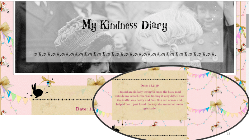 My kindness diary Social-Emotional Learning