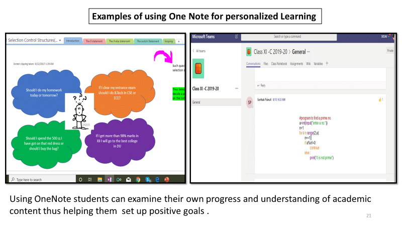 OneNote examples Social-Emotional Learning