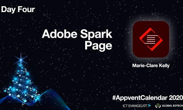 AppVentCalendar – Day Four – Adobe Spark Page