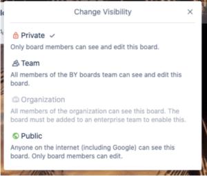 Change visibility