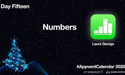 Day 15 Of The 2020 #AppventCalendar – Numbers From @AppleEDU By @Mrs_Educate