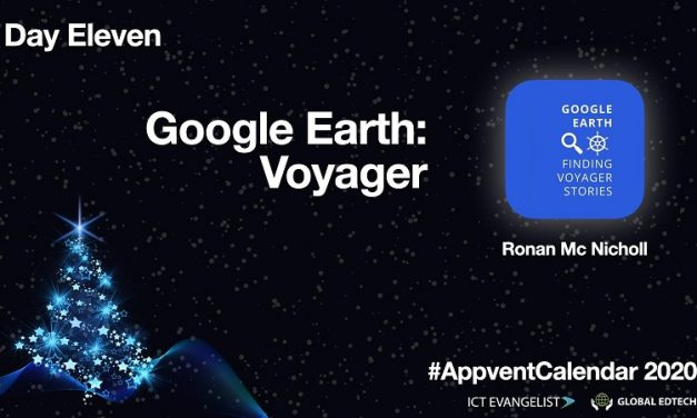 #AppventCalendar Day Eleven – Voyager by Google Earth
