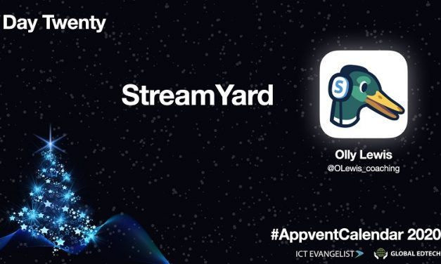 Day Twenty – live streaming using @StreamYardApp