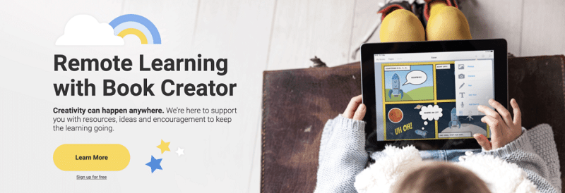Remote Learning with Book Creator
